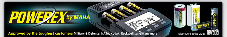 Powerex Rechargeable Batteries & Maha Battery Chargers