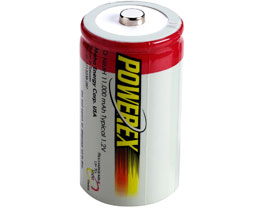 Powerex 11,000 mAH D Rechargeable Batteries