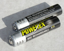 Powerex 900 mAH AAA re-chargeable batteries